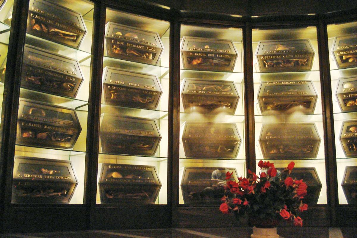 Museo de los Mártires Claretianos Barbastro. Cripta
