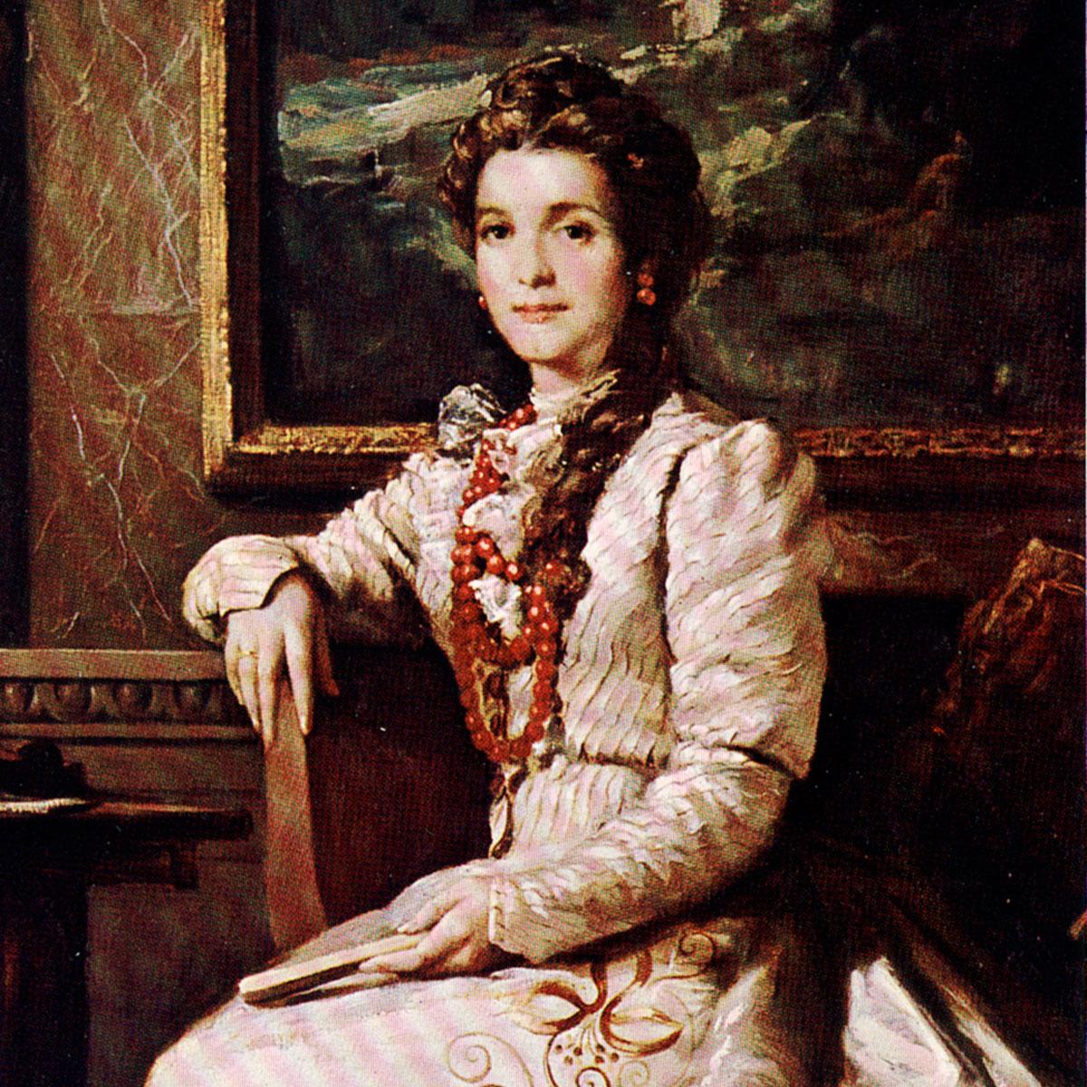 Retrato al óleo de Dolores Albás