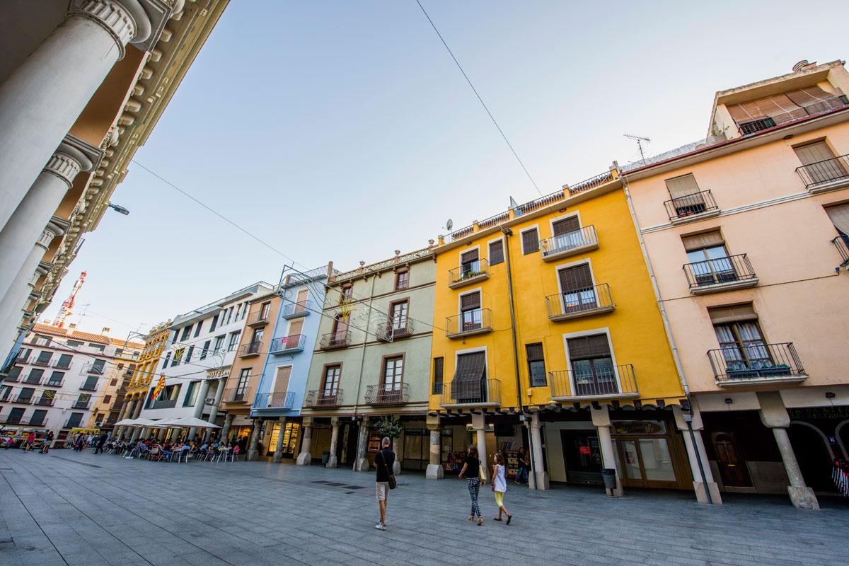 Plaza del Mercado en la actualidad. Barbastro