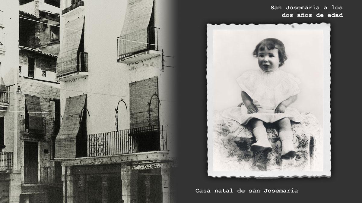 Casa natal de san Josemaría. Foto antigua
